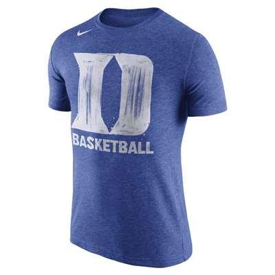 Nike Duke Blue Devils Tri Blend Basketball T Shirt