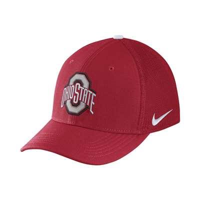 f077b78cae09e Nike Ohio State Buckeyes Aerobill Swoosh Flex Hat