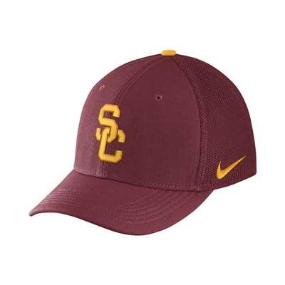 2c9c39e7e782d Nike USC Trojans Aerobill Swoosh Flex Hat