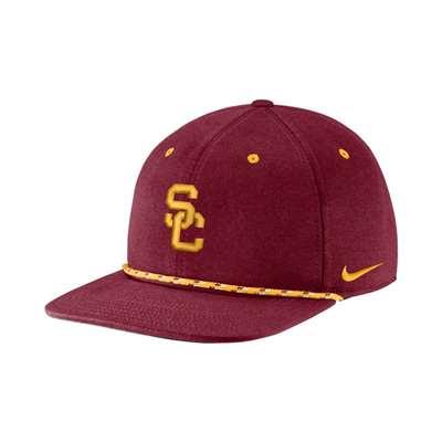 Nike USC Trojans Roped Flat Bill Hat 40754e1cb4c