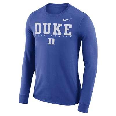 b38a4f99 Nike Duke Blue Devils Dri-FIT Facility Long Sleeve T-Shirt