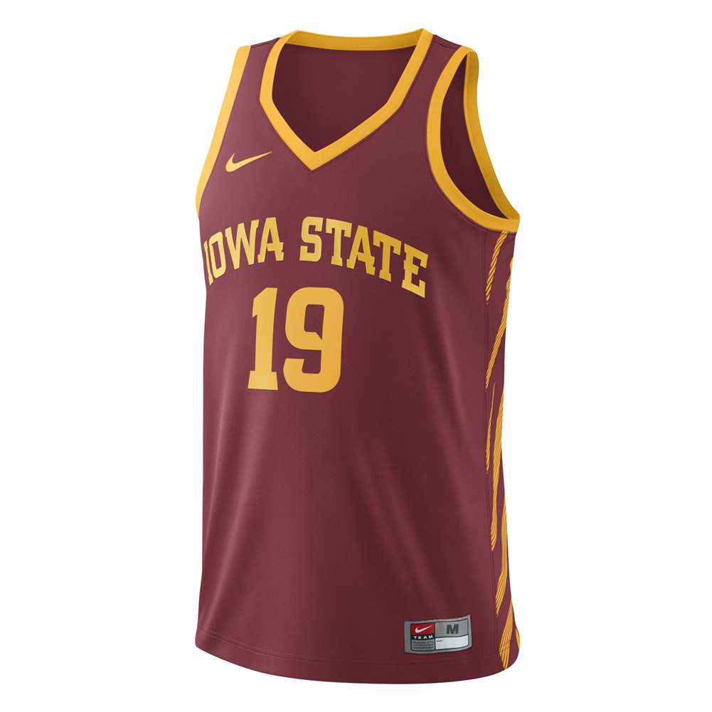 276893edaff65 Nike Iowa State Cyclones Replica Basketball Jersey - #19 - Crimson