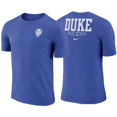 official photos cb0c1 50f37 Nike Duke Blue Devils Dri-Fit Cotton Crew T-Shirt