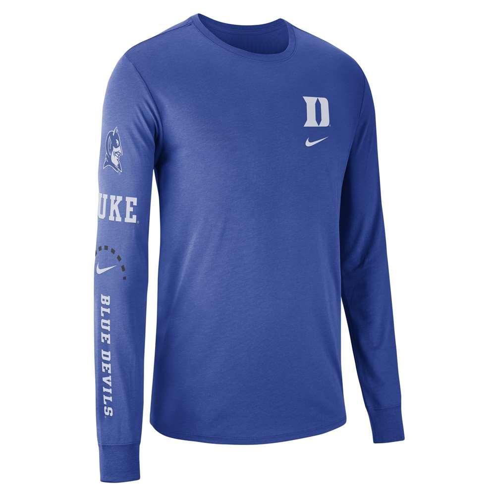 info for 42e13 73512 Nike Duke Blue Devils Long Sleeve Elevation T-Shirt