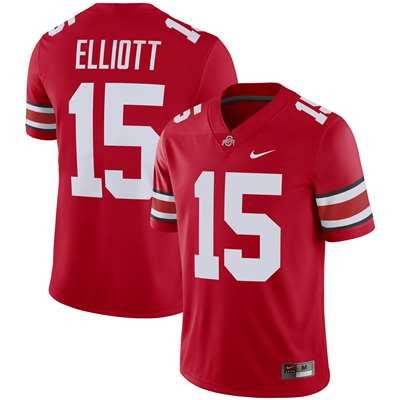 promo code d73d0 f49ee Nike Ohio State Buckeyes Alumni Player Game Football Jersey - Ezekiel  Elliott #15 Red