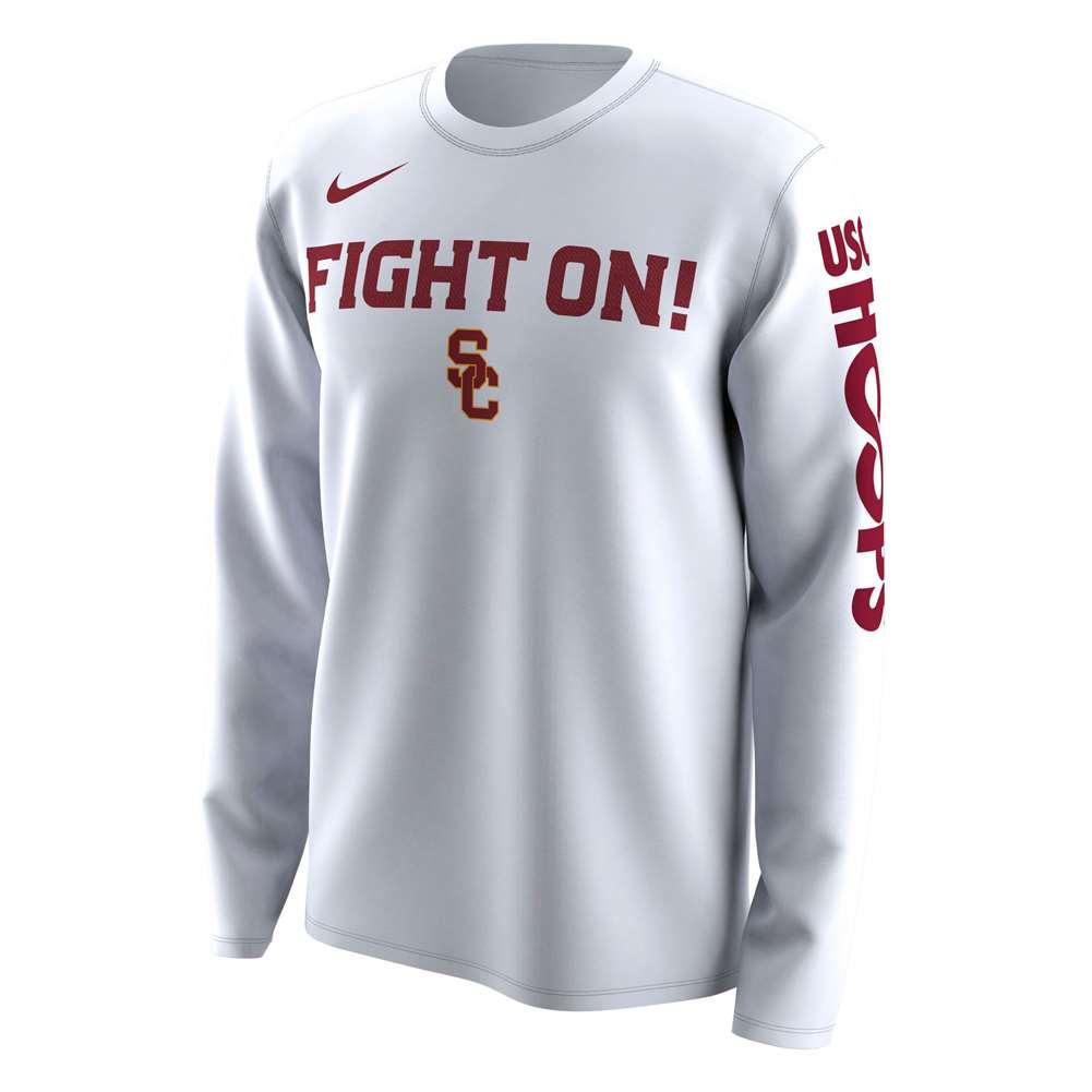 1c74903a Nike USC Trojans NCAA Basketball Tournament March Madness Bench Legend  Performance Long Sleeve T-Shirt