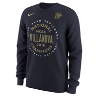 Nike Villanova Wildcats 2018 NCAA Champions Celebration Long Sleeve T-Shirt