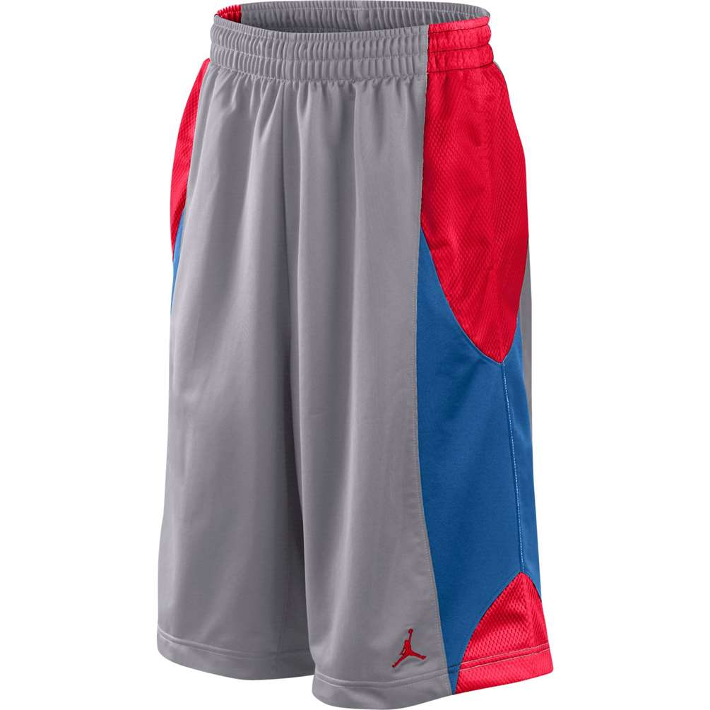 53ec9966f11131 Jordan Durasheen Basketball Short - Grey Blue Red