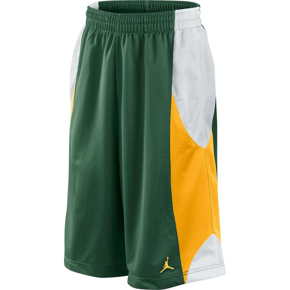 c2c946b030a43e Jordan Durasheen Basketball Short - Green Gold White