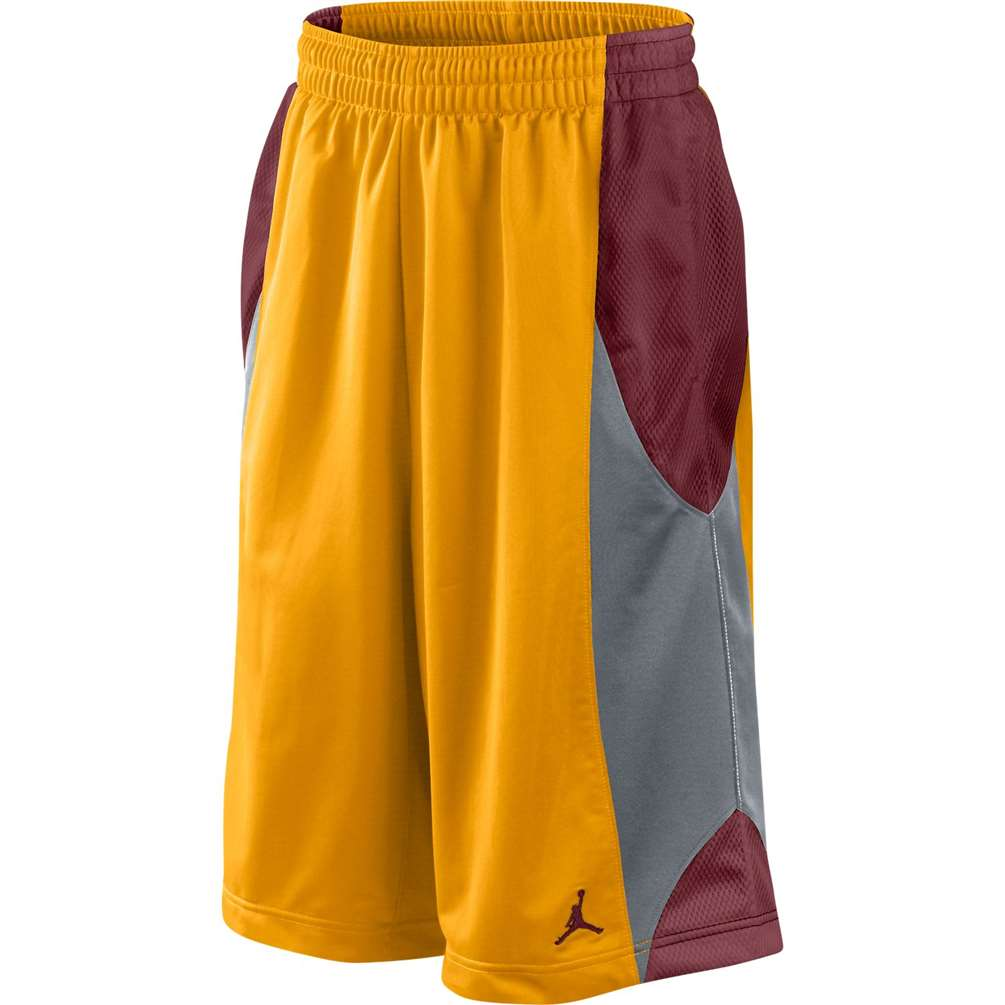 df3cb84c3dd4be Jordan Durasheen Basketball Short - Gold Grey Red
