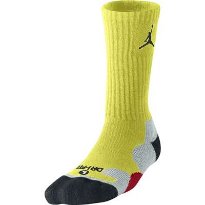 Air Jordan Dri-FIT Game Day Crew Socks - Electric Yellow