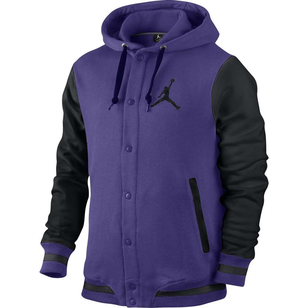 Jordan The Varisty Hoodie 2.0 Sweatshirt - Purple Black 9dc13b926