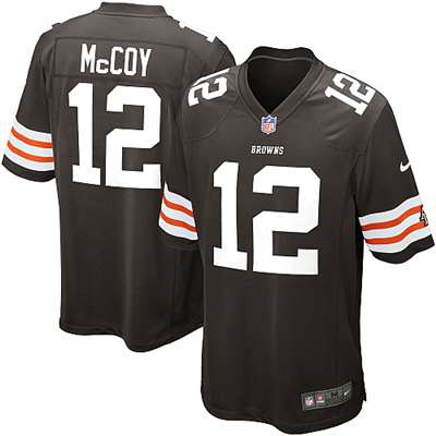 big sale f1847 175e2 Nike Cleveland Browns Colt McCoy Game Jersey - Brown #12