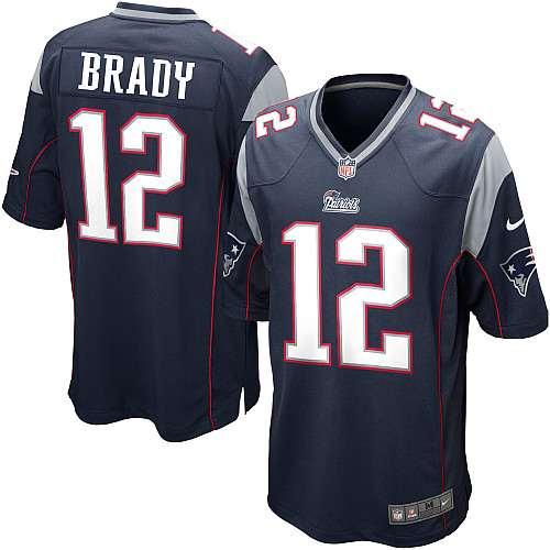 34f93beae Nike New England Patriots Tom Brady Game Jersey - Navy  12