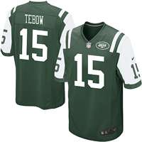 Nike New York Jets Tim Tebow Game Jersey - Green #15