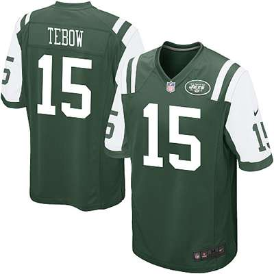 premium selection 20155 c2a6f Nike New York Jets Tim Tebow Game Jersey - Green #15