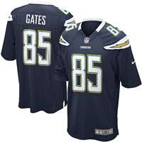 Nike San Diego Chargers Antonio Gates Game Jersey - Navy #85