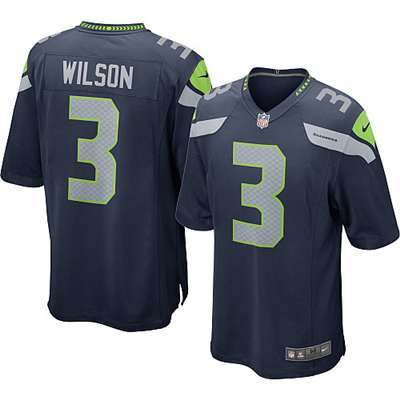 Nike Seattle Seahawks Russell Wilson Game Jersey - Pacific Blue #3