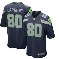 Nike Seattle Seahawks Steve Largent Game Jersey - Pacific Blue #80