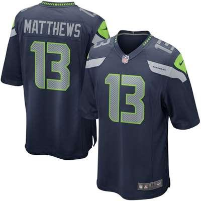 Nike Seattle Seahawks Chris Matthews Game Jersey - Navy #13