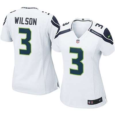 Nike Seattle Seahawks Women's  Russell Wilson Game Jersey - White #3