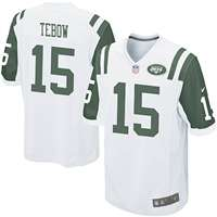 Nike New York Jets Tim Tebow Game Jersey - White #15
