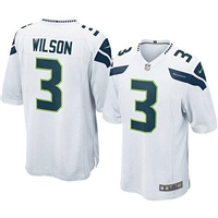 Nike Seattle Seahawks Russell Wilson Game Jersey - White #3