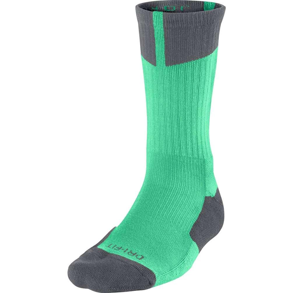 Air Jordan Dri-Fit Crew Socks - Green Glow Dark Grey 16640240a69b