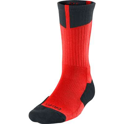Air Jordan Dri-Fit Crew Socks - Bright Orange/Black