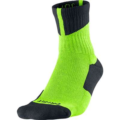 Air Jordan Dri-Fit High Quarter Socks - Electric Green/Black