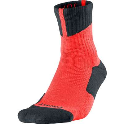 Air Jordan Dri-Fit High Quarter Socks - Optic Orange/Black