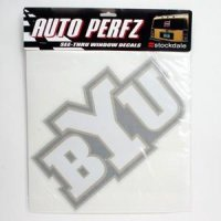 Brigham Young Perforated Vinyl Window Decal