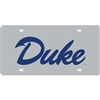 Duke Inlaid Acrylic License Plate - Silver Mirror Background