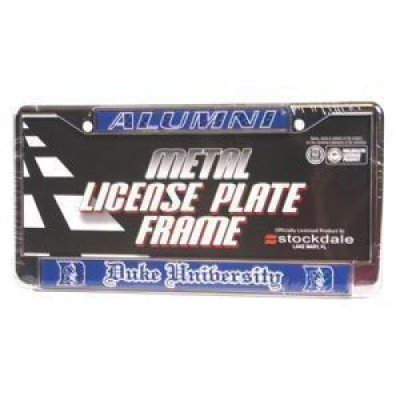 Duke Blue Devils Alumni Metal License Plate Frame W/domed Insert ...