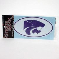 Kansas State High Performance Decal - Primary Logo In Oval