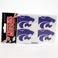 Kansas State High Performance Decal - Primary Logo 4-pack