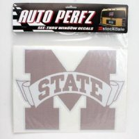 Mississippi State Perforated Vinyl Window Decal
