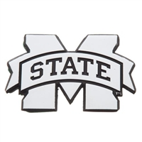 Mississippi State Metal Chromed Auto Emblem