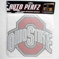 Ohio State Perforated Vinyl Window Decal