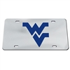 West Virginia Inlaid Acrylic License Plate - Silver Mirror Background