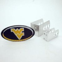 West Virginia Universal Hitch Receiver W/domed Emblem - Oval W/blue Background