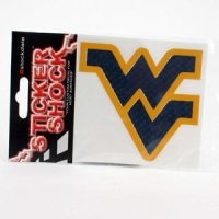 West Virginia High Performance Decal - Blue / Yellow Outline