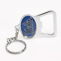 Ucla Metal Key Chain And Bottle Opener W/domed Insert - Ucla Blue Background