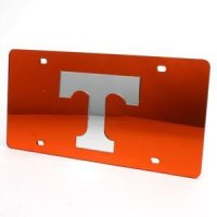 Tennessee Inlaid Acrylic License Plate - Orange Background