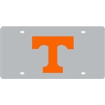 Tennessee Inlaid Acrylic License Plate - Silver Background
