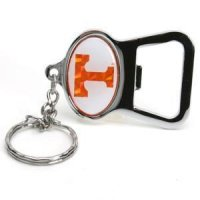 Tennessee Metal Key Chain And Bottle Opener W/domed Insert