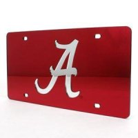 Alabama Inlaid Acrylic License Plate -