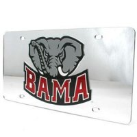 Alabama Inlaid Acrylic License Plate - Silver