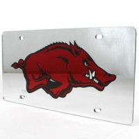 Arkansas Inlaid Acrylic License Plate - Silver