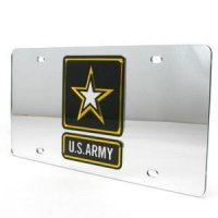 U.s. Army Inlaid Acrylic License Plate - Silver
